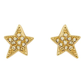 Karl Lagerfeld Swarovski Star Gold Plated Stud Earrings - Product number 2166526