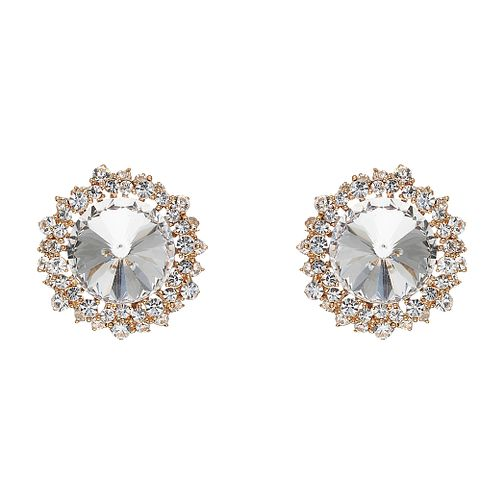 Mikey Large Clear Crystal Stud Earrings - Product number 2166984