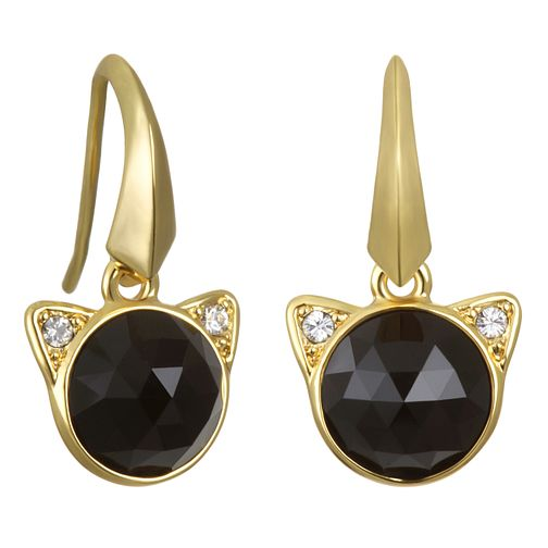Karl Lagerfeld Rose Cut Choupette Gold Plated Earrings - Product number 2168928