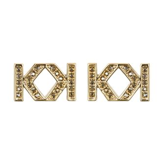 Karl Lagerfeld Swarovski Double K Gold Plated Earrings - Product number 2170264