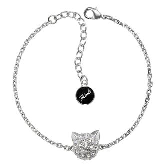 Karl Lagerfeld Swarovski Choupette Rhodium Plated Bracelet - Product number 2170434
