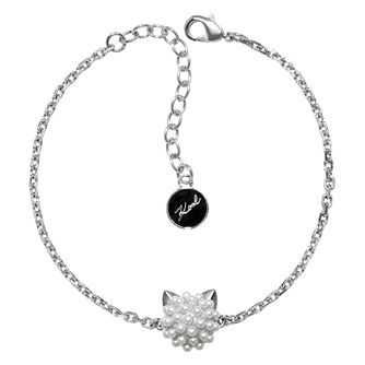 Karl Lagerfeld Pearl Choupette Rhodium Plated Bracelet - Product number 2170477
