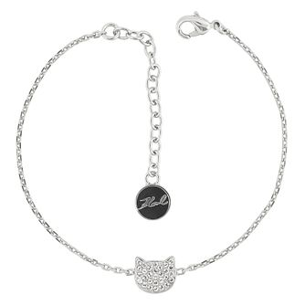 Karl Lagerfeld Swarovski Choupette Rhodium Plated Bracelet - Product number 2170515