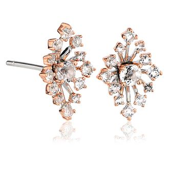 Clogau Celebration 9ct Rose Gold & White Topaz Stud Earrings - Product number 2170612