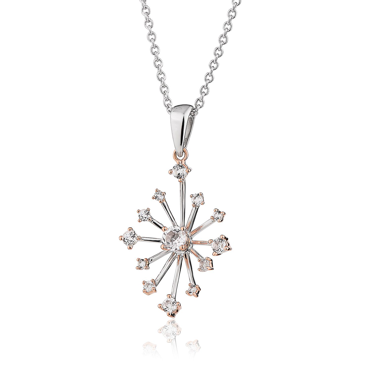 Clogau Celebration Silver & White Topaz Sparkle Pendant - Product number 2170620