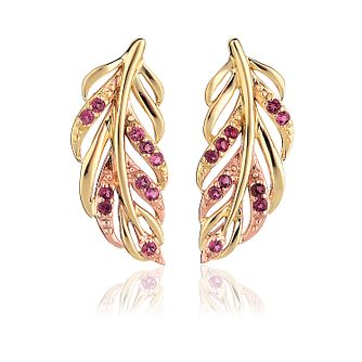 Clogau Debutante 9ct Gold & Tourmaline Stud Earrings - Product number 2170639