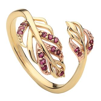 Clogau Debutante 9ct Gold & Pink Tourmaline Ring - Product number 2170655