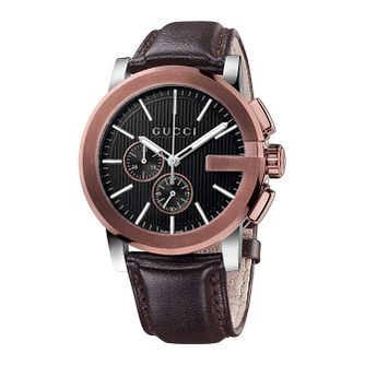 Gucci G-Chrono Black Leather Strap Watch - Product number 2173786