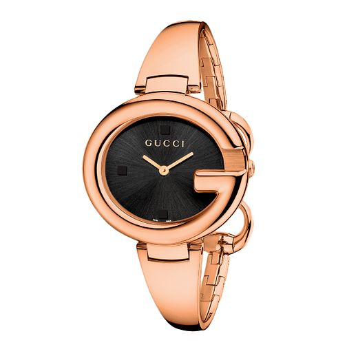 Gucci Guccissima ladies' large rose gold plated bangle watch - Product number 2173816