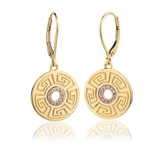Clogau Meander 9ct Gold & White Topaz Drop Earrings - Product number 2173913