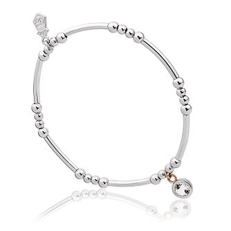 Clogau Celebration Silver & White Topaz Bead Bracelet - Product number 2174634