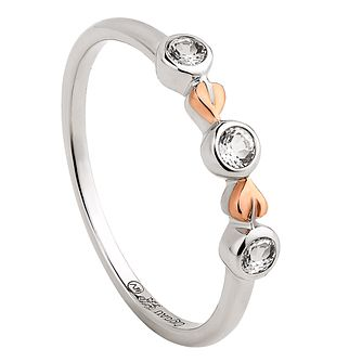 Clogau Tree Of Life Clover Silver & White Topaz Ring - Product number 2176181