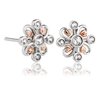 Clogau Tree Of Life Clover Silver & Topaz Stud Earrings - Product number 2176513
