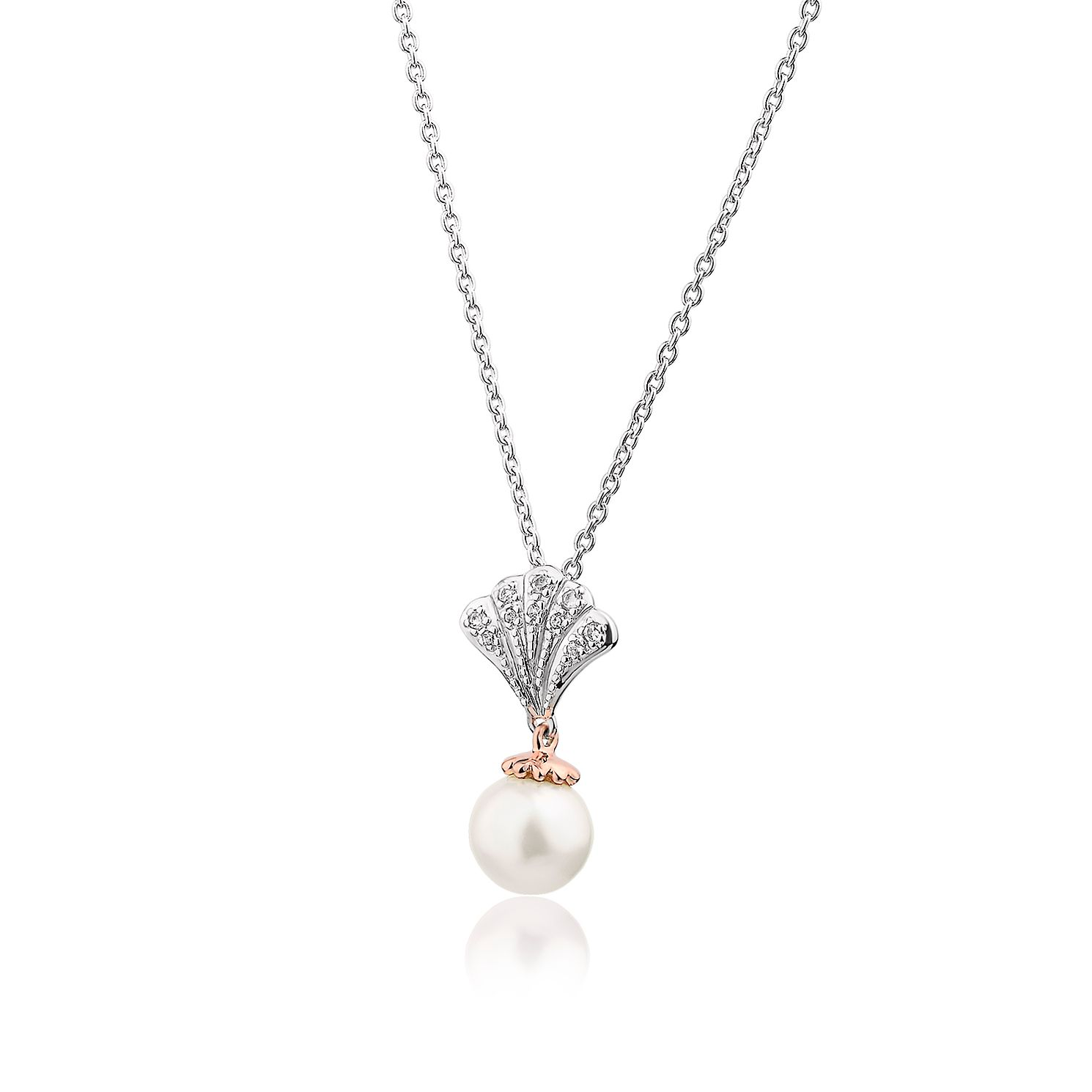Clogau Silver & 9ct Rose Gold Windsor Pearl Pendant - Product number 2177447