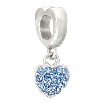 Chamilia Petite Heart Charm with Sapphire Crystal - Product number 2177528