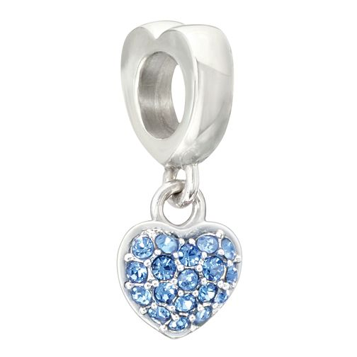 Chamilia Petite Heart Charm with Sapphire Swarovski Crystal - Product number 2177528