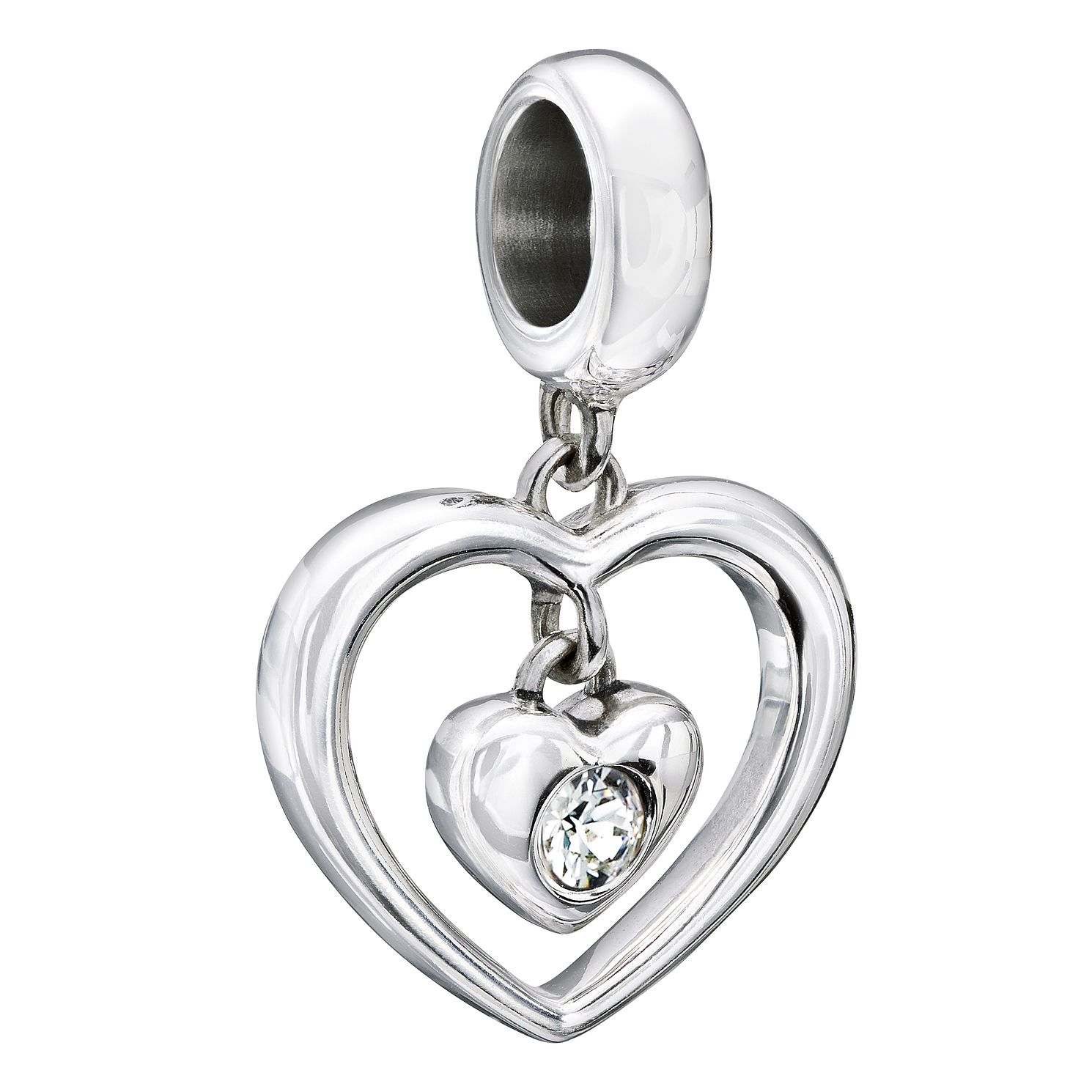 Chamilia Radiant Heart White Swarovski Crystal Charm - Product number 2177757