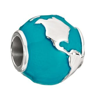 Chamilia Silver & Enamel Around The World Globe Charm - Product number 2178281