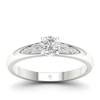 The Diamond Story Platinum 0.3ct Diamond Ring - Product number 2179407