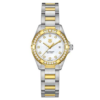 Tag Heuer Aquaracer ladies' 2 colour bracelet watch - Product number 2180189