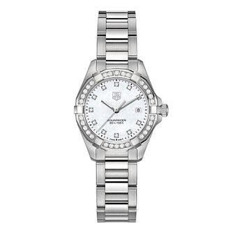 TAG Heuer Aquaracer ladies  stainless steel bracelet watch - Product number  2180340 03a82a6f6f15