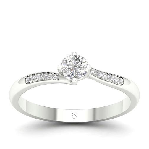 The Diamond Story Platinum 0.3ct Diamond Ring - Product number 2180650