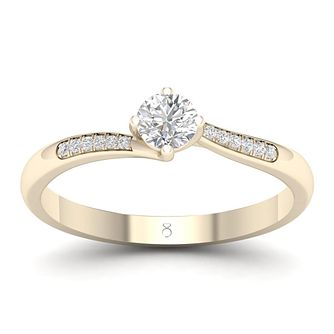 The Diamond Story 18ct Yellow Gold 0.3ct Diamond Ring - Product number 2180944
