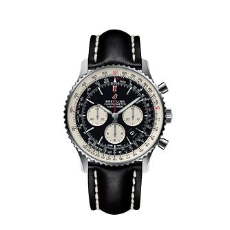 Breitling Navitimer 01 Men's Black Leather Strap Watch - Product number 2181460