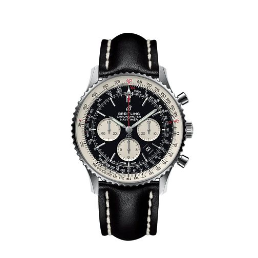 Breitling Navitimer 01 Swiss Pilot's Men's Black Strap Watch - Product number 2181460