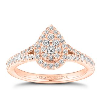 Vera Wang 18ct Rose Gold 0.45ct Pear Shaped Cluster Ring - Product number 2181851