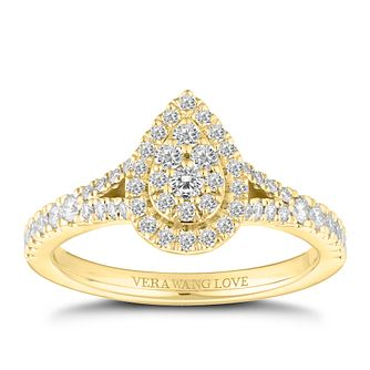 Vera Wang 18ct Gold 0.45ct Pear Shaped Cluster Ring - Product number 2182270