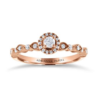 Adrianna Papell 14ct Rose Gold & 1/4ct Diamond Ring - Product number 2185024