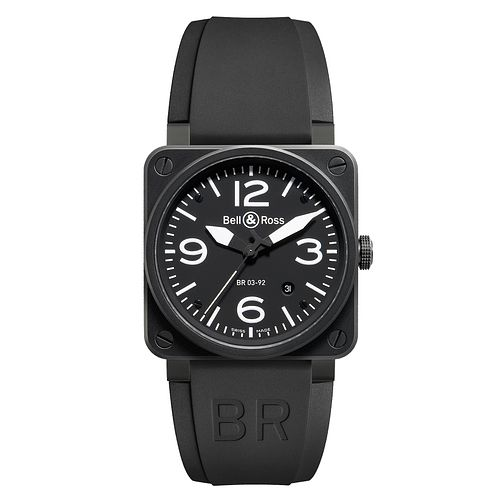 Bell & Ross BR03 men's ceramic black strap watch - Product number 2185865