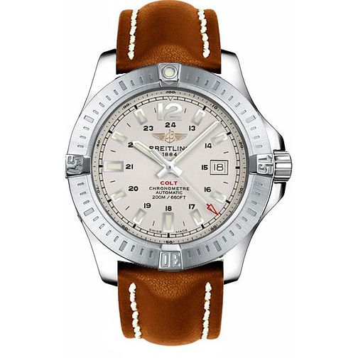 Breitling Colt Men's Brown Leather Strap Watch - Product number 2190486