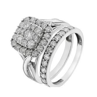 Perfect Fit 9ct White Gold 1.25 Carat Diamond Bridal Set - Product number 2203235