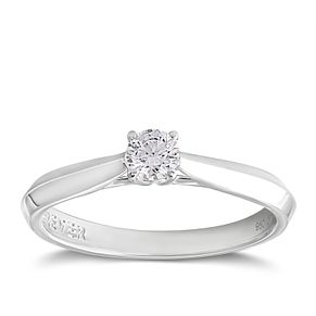Platinum 1/5ct Forever Diamond Solitaire Ring - Product number 2206951