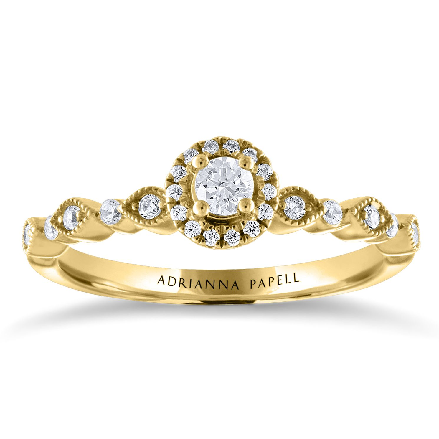 Adrianna Papell 14ct Yellow Gold 0.25ct Total Diamond Ring - Product number 2208717