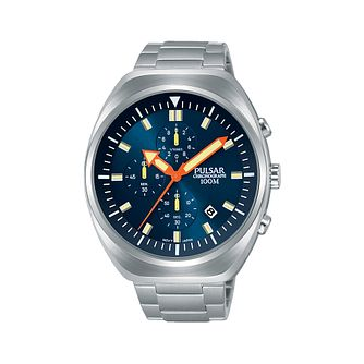 Pulsar Men's Chronograph Stainless Steel Bracelet Watch - Product number 2209551