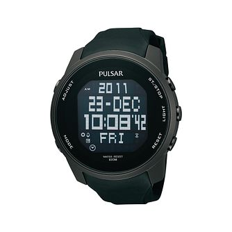 Pulsar Men's Digital Black PU Strap Watch - Product number 2209624