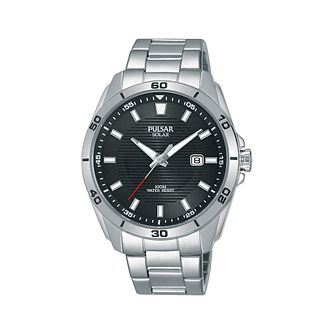 Pulsar Solar Men's Stainless Steel Bracelet Watch - Product number 2209713