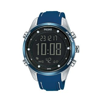 Pulsar Men's Digital Blue Silicone Strap Watch - Product number 2209934