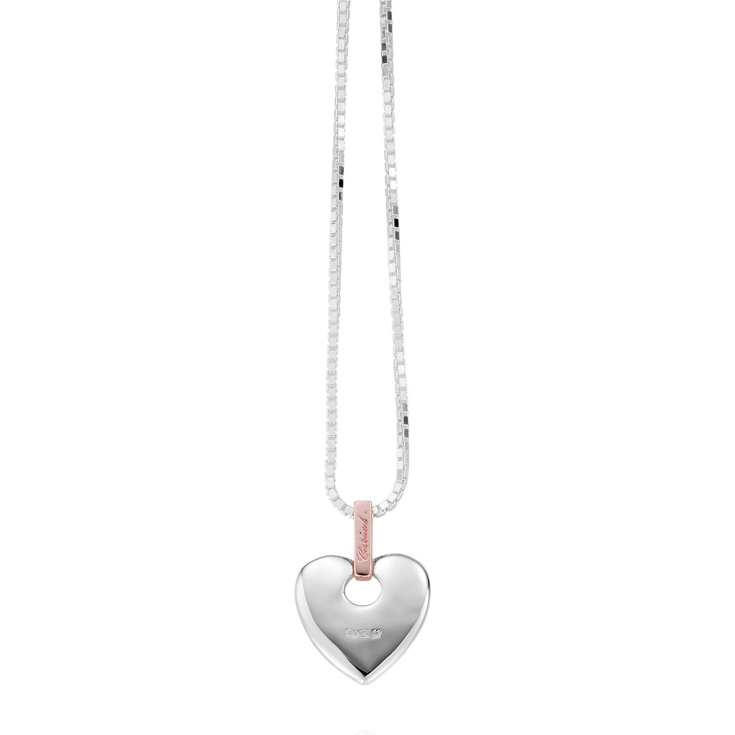 Clogau Cariad Silver & 9ct Rose Gold Heart Pendant - Product number 2210169
