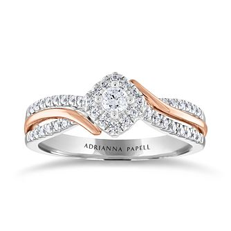 Adrianna Papell 14ct White & Rose Gold 0.33ct Diamond Ring - Product number 2210576
