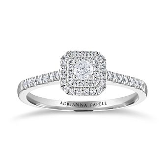 Adrianna Papell 14ct White Gold & 1/4ct Diamond Ring - Product number 2212811