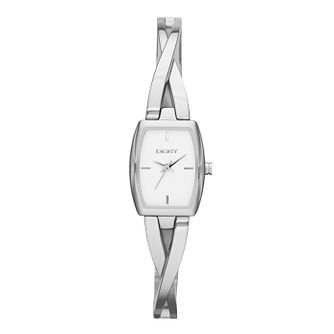Dkny Ladies' Stainless Steel Crossover Bangle Watch - Product number 2216108
