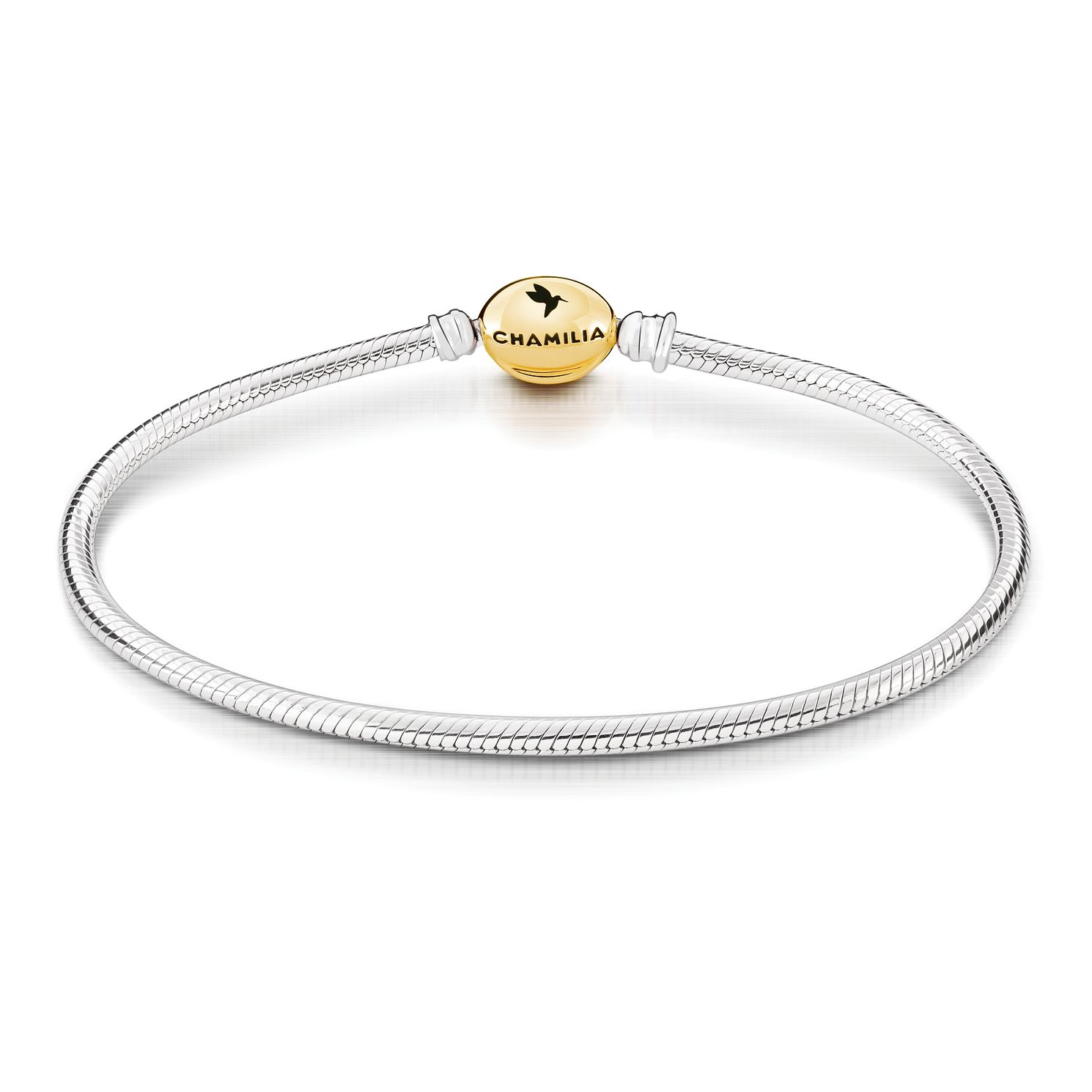Chamilia Gold Tone Oval Snap Bracelet - Product number 2217929
