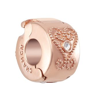 Chamilia Blush Heart Lock Charm with Swarovski Crystal - Product number 2218666