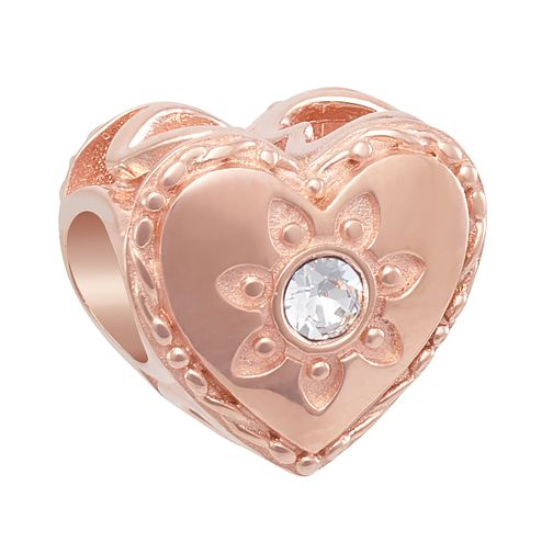 CHAMILIA Blush Sunny Heart Charm with Swarovski Tanzanite - Product number 2219018
