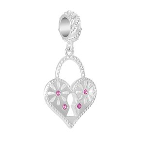 Chamilia Love Letter Charm with Pink Swarovski Zirconia - Product number 2219107