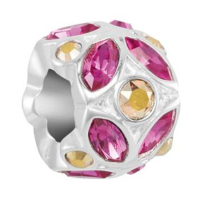 Chamilia Reflections Light Rose Crystal Accent Charm - Product number 2145375